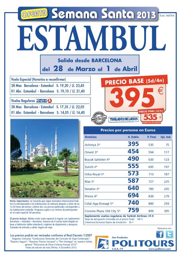 ESTAMBUL Semana Santa